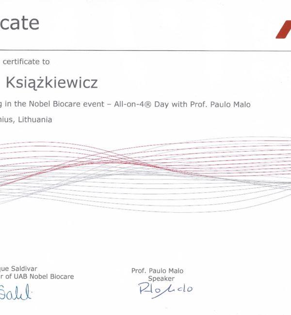 certyfikat nobel biocare