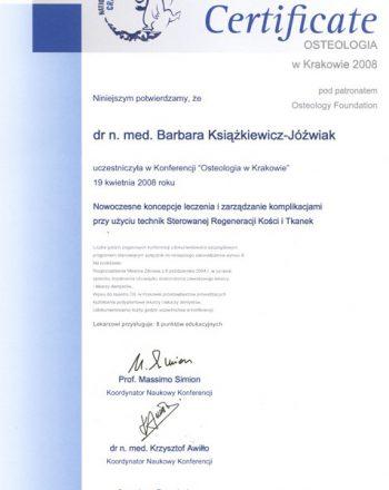 certyfikat uczestnictwa w konferencji