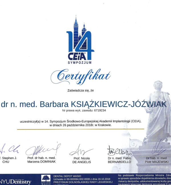 certyfikat sympozjum