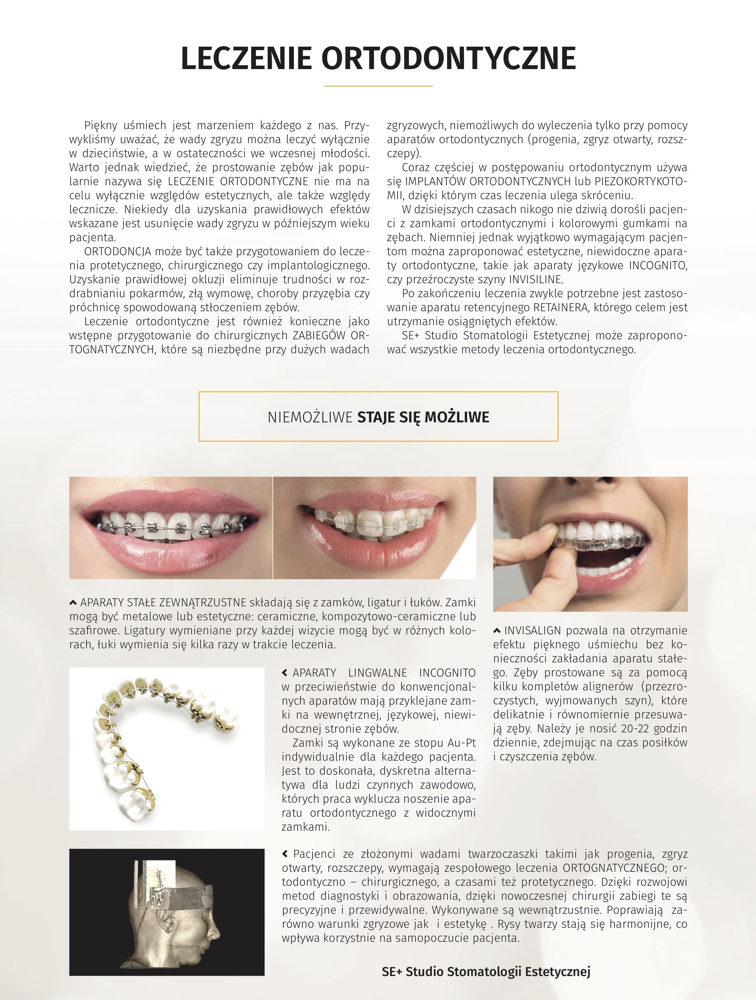 artykuł o leczeniu ortodontycznym