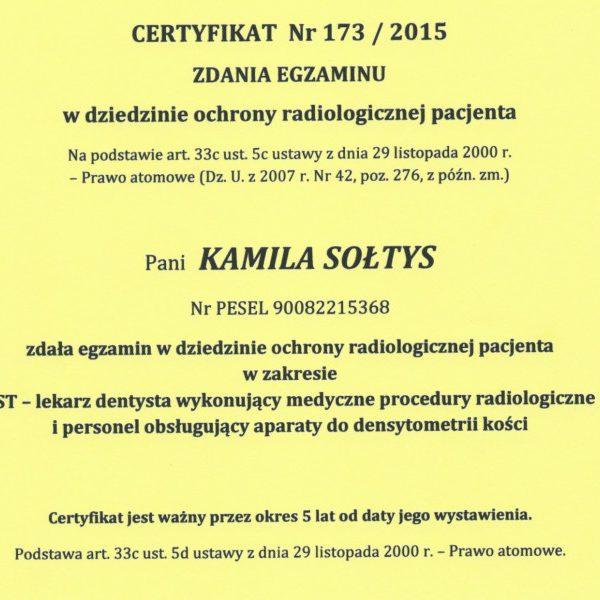 certyfikat zdania egzaminu