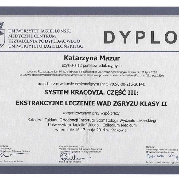 dyplom ukończenia kursu