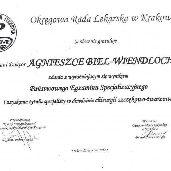 list gratulacyjny za wyniki na egzaminie