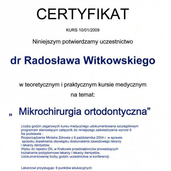 certyfikat uczestnictwa w kursie medycznym