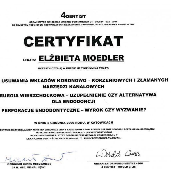 certyfikat uczestnictwa w kursie