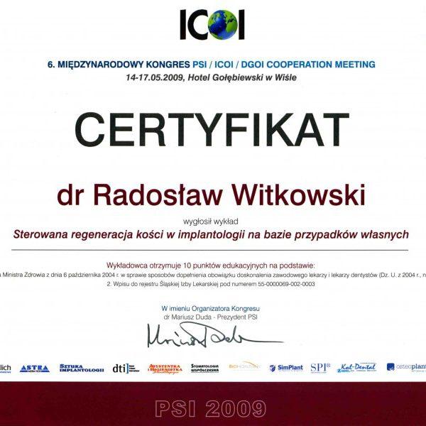 certyfikat o wygłoszeniu wykładu