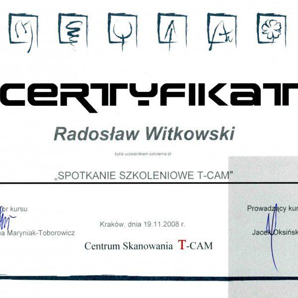 certyfikat uczestnictwa w spotkaniu szkoleniowym