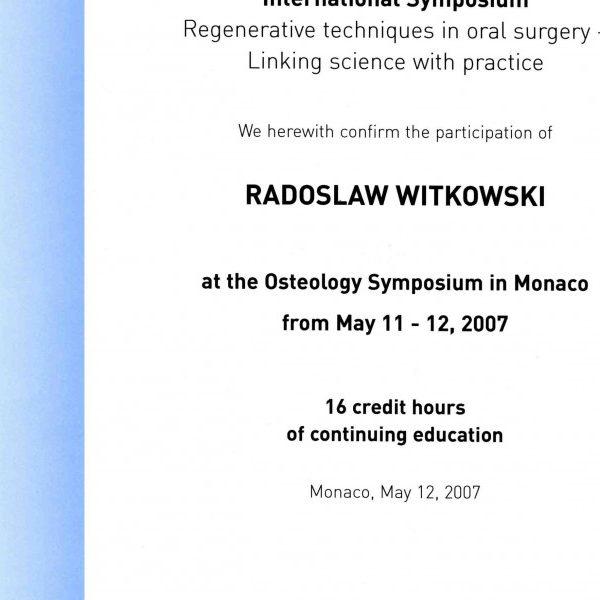 certyfikat udziały w sympozjum
