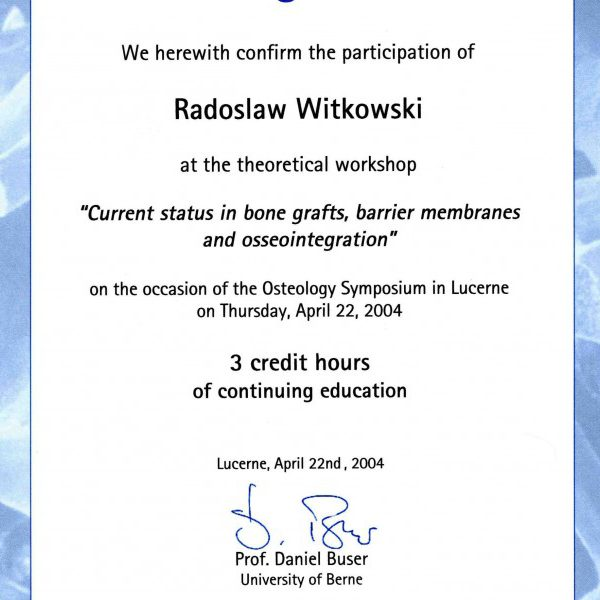 certyfikat udziału w sympozjum
