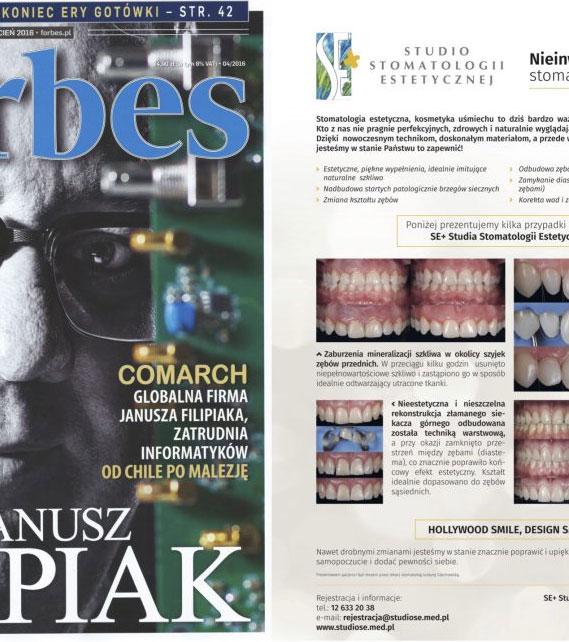 gazetka informacyjna kliniki stomatologicznej