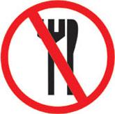 zakaz spożywania produktów spożywczych